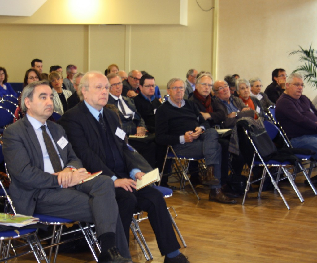 Jean Michel Hitter, président de la Fédération de l'entraide protestante (FEP)  et François Clavairoly, président de la Fédération protestante de France (FPF), lors des Journées nationales de la FEP
