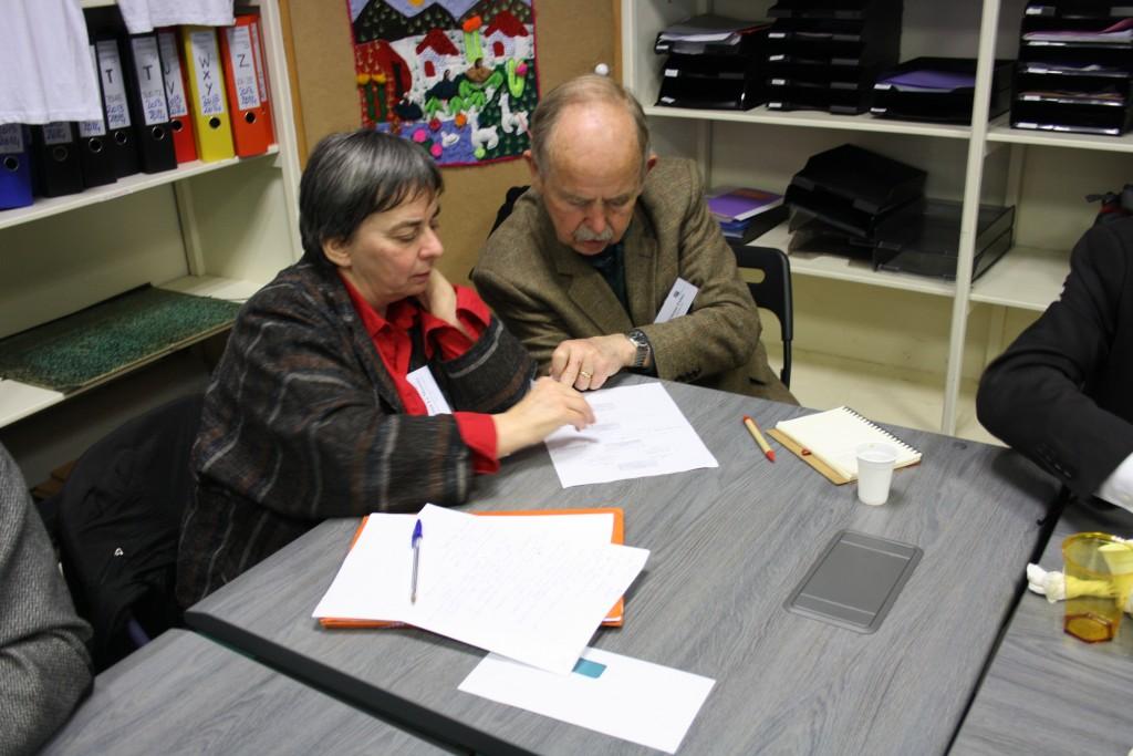 Les participants lors de l'atelier organisé par La Cimade