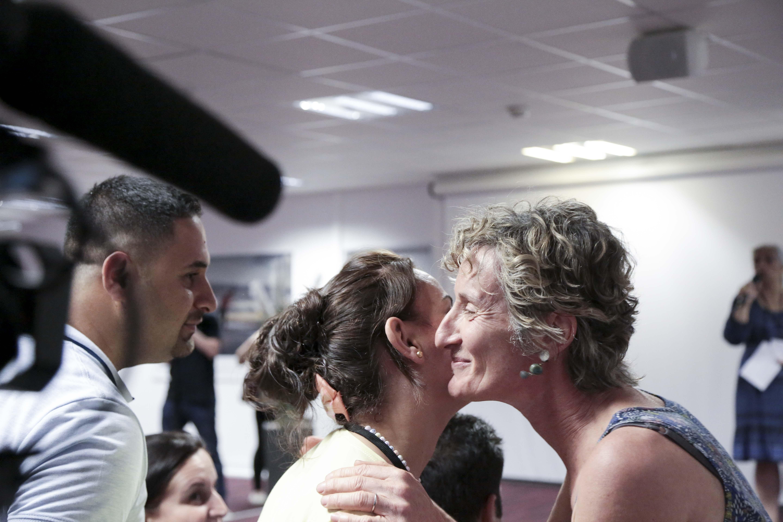 c)FEP-FPF-Karine_Bouvatier. Isabelle Yard et la famille Mikho : une première rencontre forte en émotion