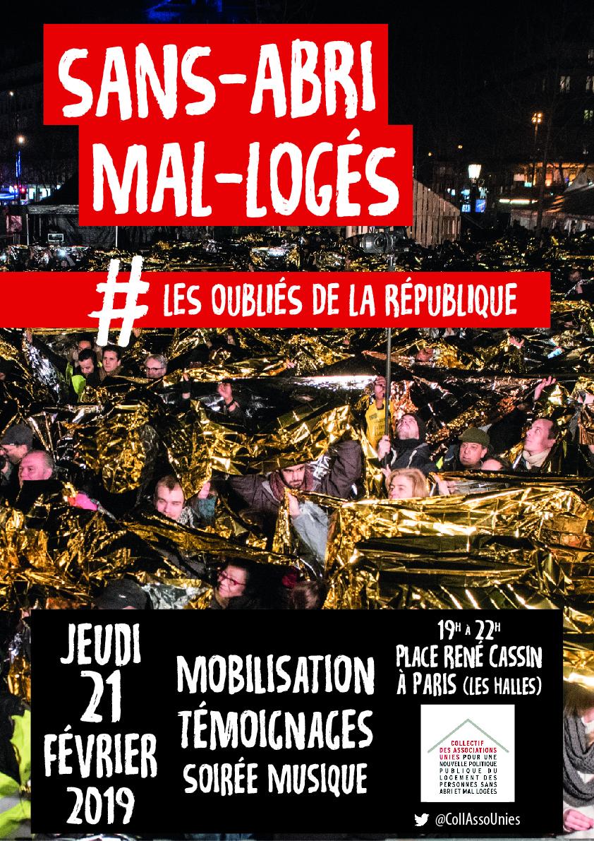 Affiche CAU mobilisation jeudi 21 février